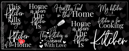 Obraz na plátně Kitchen banner, vector