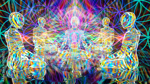 Cuadros en Lienzo meditative group