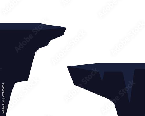 Fotografia Isolated two cliffs vector design
