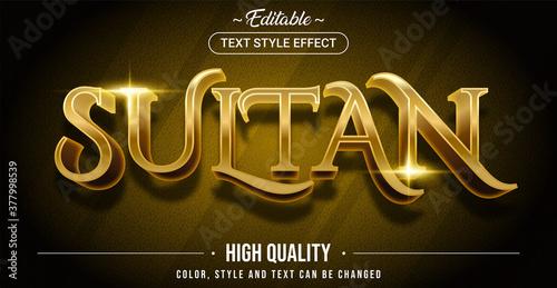 Fototapeta Editable text style effect - Sultan theme style.