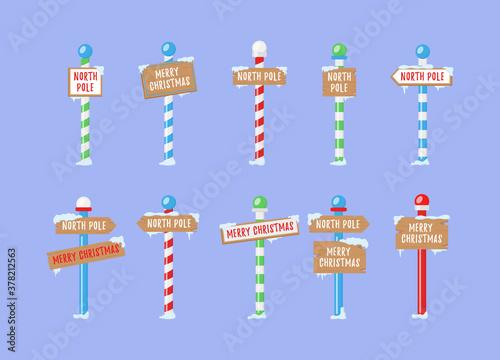 North Pole signs. Fototapeta