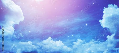 Obraz na plátně Night sky with stars.