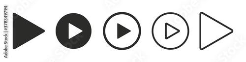 Obraz na plátně Set of play buttons icons