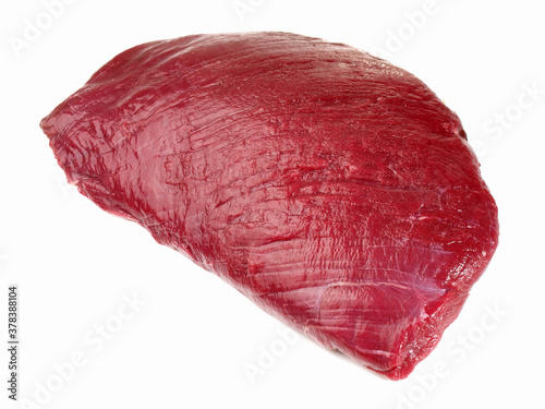 Ostrich Meat on white Background - Isolated Fototapeta