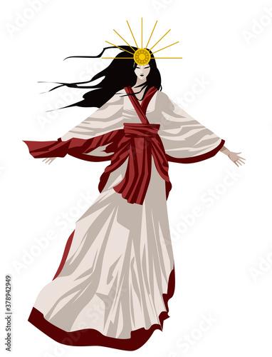 Fotografie, Tablou amaterasu Shinto sun mythology goddess