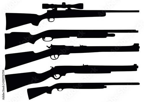 Canvas Print Hunting rifle and shotgun in the kit.