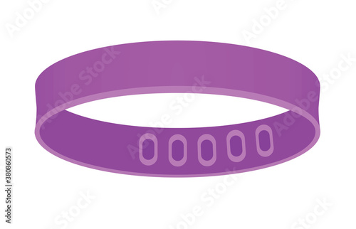 Fototapeta Purple bracelet blank. vector illustration