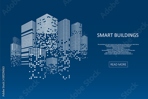 Fotografia, Obraz Smart building concept design