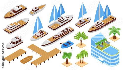 Fotografija Isometric Yacht Club Set