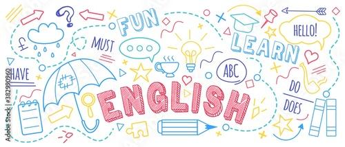 English language learning concept