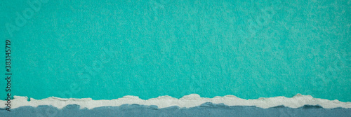 Fototapeta abstract landscape in blue and green pastel tones - a collection of colorful han