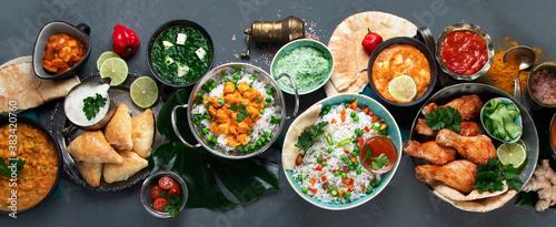 Canvas Print Assortment Indian recipes food various.