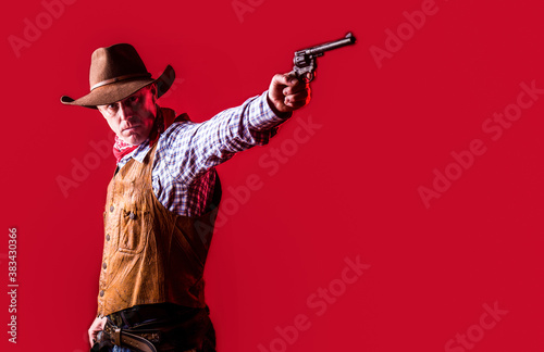 Canvas Print West, guns