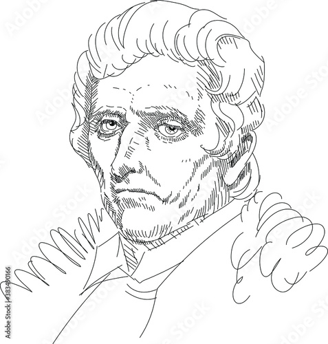 Daniel Boone- American settler and hunter, militia commander, legend Fototapet