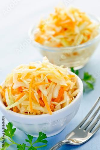 Bowls of coleslaw