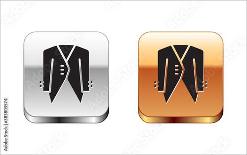Fototapeta Black Suit icon isolated on white background
