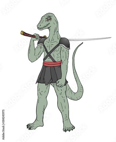 Fotografija Mutant lizard with sword