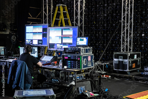 Audio & Visual Backstage Equipment and Operator Fototapet