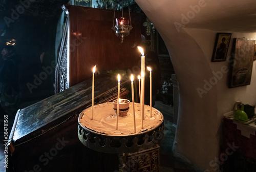 Fotografia, Obraz The interior of the Greek Akeldama Monastery in the old city of Jerusalem in Isr