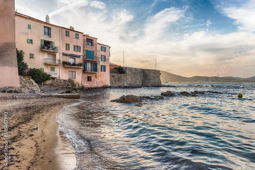 Obraz na płótnie The scenic La Ponche beach in Saint-Tropez, Cote d'Azur, France