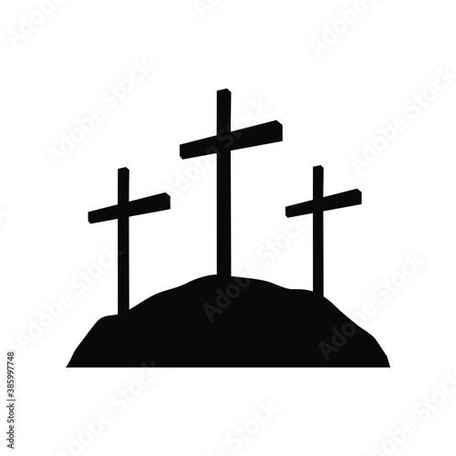Canvas Print Calvary Crosses, Christianity religion symbol