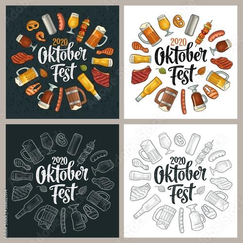 Canvas Print OktoberFest 2019 calligraphic handwriting lettering