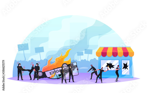 Photo Violence Riots, Looting Concept