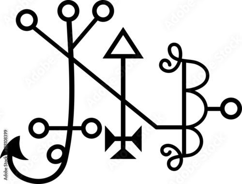 Slika na platnu Vector Seal of Balaam Goetic Sigil Daemon Spirit from the Ancient Goetia Gods an