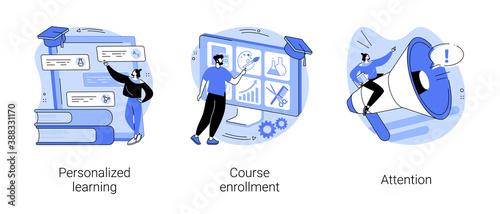 Foto Flexible study plan abstract concept vector illustration set