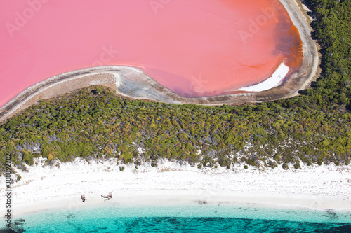 Canvas Print Pink salt lakes