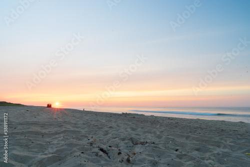 Sunrise on the beach фототапет