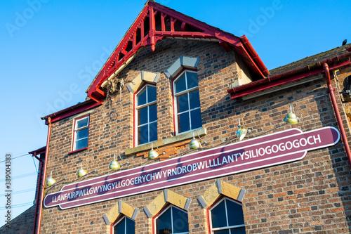 Wallpaper Mural Trainstation building in Llanfairpwllgwyngyllgogerychwyrndrobwllllantysiliogogog