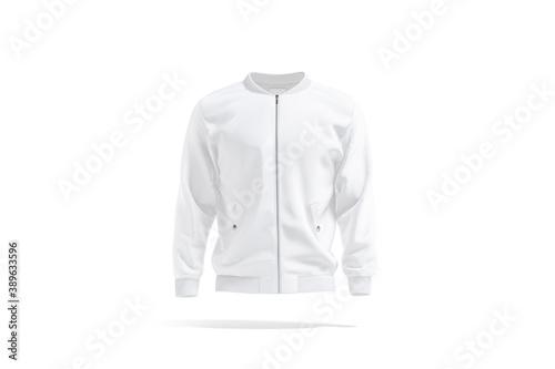 Fotografija Blank white bomber jacket mockup, front view