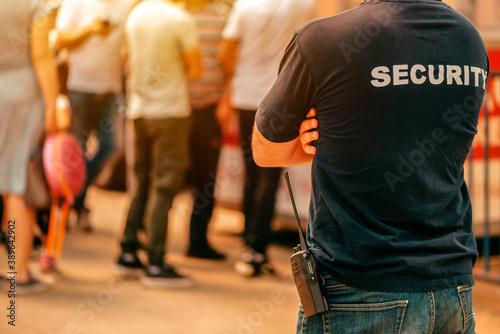 Security guard at live festivale event Fototapeta