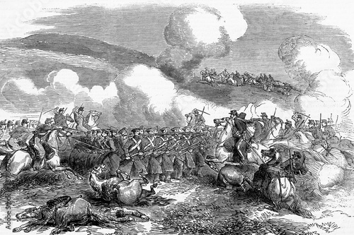 Canvas Charge of the Chasseurs D'Afrique, French cavalry, battle of Balaclava