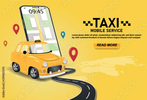 Obraz na plátne Taxi service