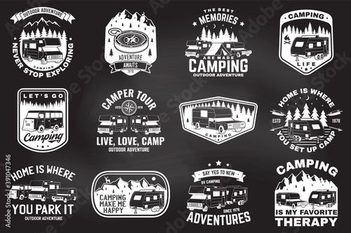 Tela Set of outdoor adventure quotes