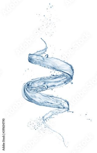 Canvas Print vortex water splash isolated on white background