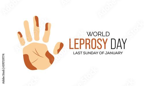 Fotografia Vector illustration on the theme of World Leprosy Eradication or Hansen's disease day observed each year on last Sunday of January across the globe