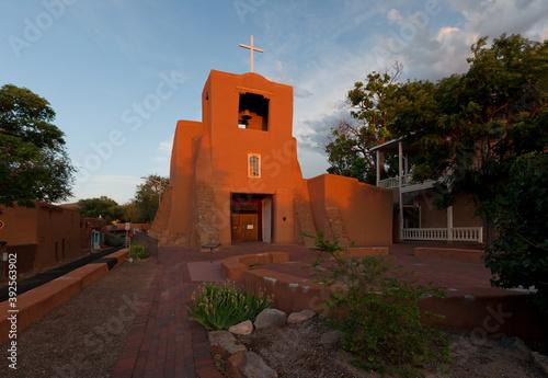 Fototapeta premium San Miguel Chapel, Santa Fe, New Mexico