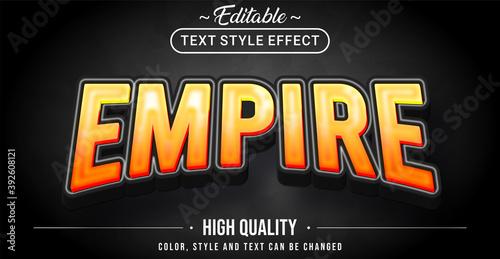 Slika na platnu 3D empire theme text effect - Editable text effect.