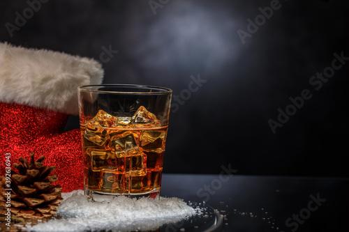 Fotografie, Obraz Whiskey im Glas