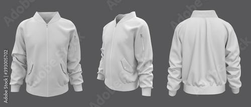 Fotografija Bomber jacket mockup, design presentation for print, 3d illustration, 3d renderi
