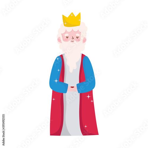 nativity, caspar wise king manger cartoon Tapéta, Fotótapéta