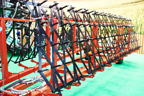 Fototapeta Trailed spike harrows for agricultural transport