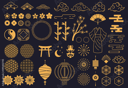 Carta da parati Japanese symbols