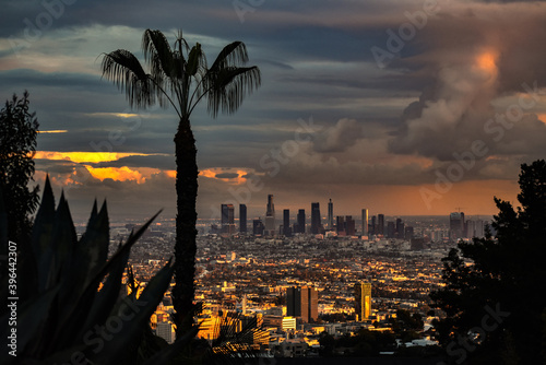 After Rain of LA View From Hollywood Hills Fototapeta
