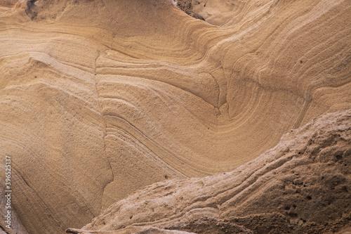 Stampa su Tela Gran Canaria, amazing sand stone erosion figures in ravines on Punta de las Aren
