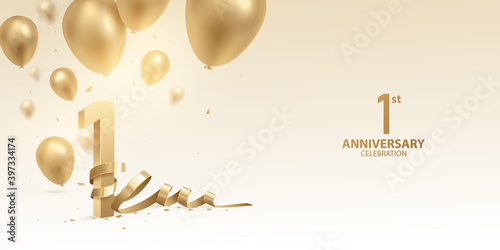 Foto 1st Year anniversary celebration background