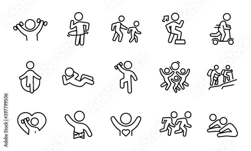 Foto Childhood Fitness icons vector design